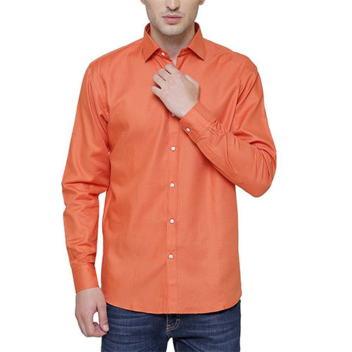 f8541886 Mens Plain Orange Shirt, Size: Medium And XXL, Rs 250 /piece | ID ...