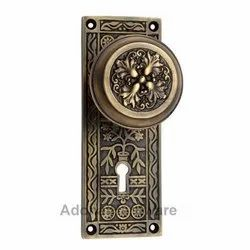 Carshena Brass Door Knob with Plate