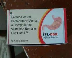 Enteric Coated Pantoprazole Sodium And Domperidone Sustained Release Capsules IP