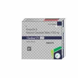 Amoxicillin Potassium Clavulanate 625 Tablets, Packaging Type: Strip+box