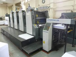 Used Komori Lithrone L-425 4 Color Offset Printing Machine