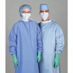 White Non Woven Laminated Fabric for PPE Kits