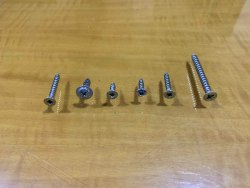 Iron Zinc Chipboard Screw CSK M4 x 16