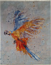 Parrot Design Real Wool And Silk Rugs