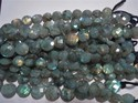 Large Faceted Coin Shape Labradorite Gemstone Bead Strands