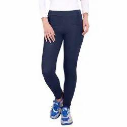 Cotton Churidar Ladies Plain Stretchable Legging, Size: Free Size