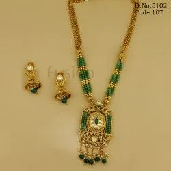 Traditional Antique Long Pendant Set