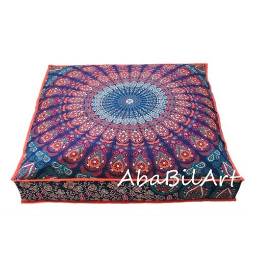 Large Round Mandala Meditation Printed Decorative Sofa Pillows Indian Tapestry