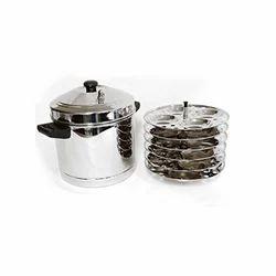 Stainless Steel Idli Cooker, 6 Plates
