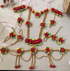 Artificial Flower Jewelry For Baby Shower And Haladi