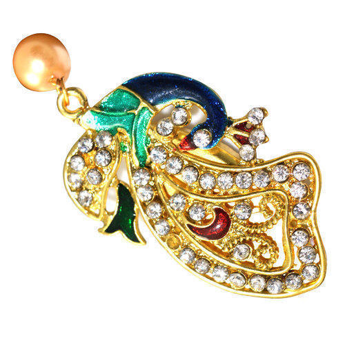14bfe12b243 Vama Peacock Design Saree Pin, Rs 40 /piece, Vama Creation | ID ...
