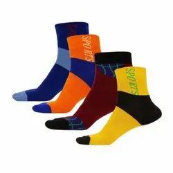 Q-Tex Non Terry Mens Sports Ankle Socks, Size: Medium