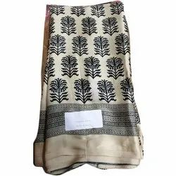 Casual Wear Printed Satin Saree, 6.3 m (with blouse piece)