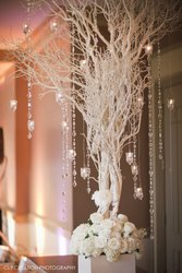 Pan India White Plastic Crystal Tree, For Decoration Purpose