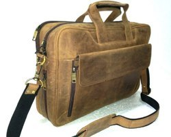 Suede Leather Office Shoulder Bag