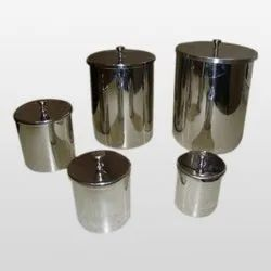 Stainless Steel SS Containers, Round, Capacity: 5 Ltr