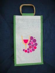 Designer Jute Wine Bag