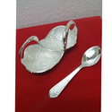 Silver Plated Duck Bowl & Spoon