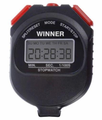 Winner Black Digital Stop Watch
