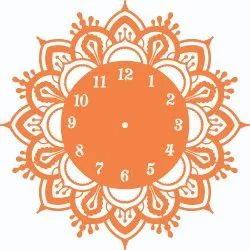 Laser Cut Decorative Acrylic Wall Clock