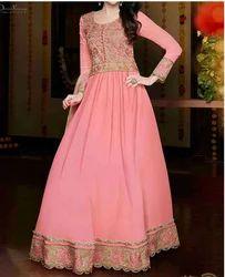 Girls Pink Designer Frock