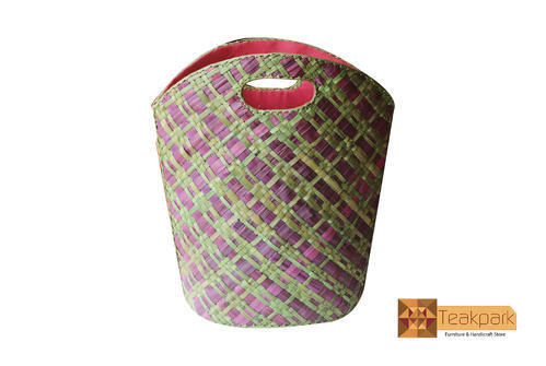 pallas screwpine leaf woven shopper bag design 9 bag size inches