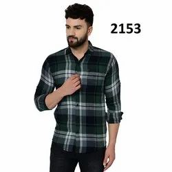 Collar Neck Mens Designer Check Shirt, Hand Wash, Machine Wash, Size: Available In M, L And Xl