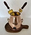 Copper Hammered Table Service Tandoor Dish