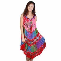 Modern Rayon Batik Dress