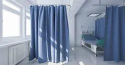 Cotton Blue Hospital Curtain