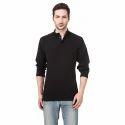 Mens Plain Black Full Sleeve Sweatshirt