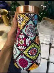 Enamel Print Copper Bedroom Bottle, Size: 1000 Ml