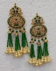 Long Brass Fashion Earrings
