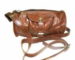 Front Pocket Goat Leather Duffel Bag