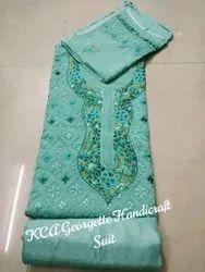 Multicolor Salwar KCA Resham Embroidered Georgette Suits