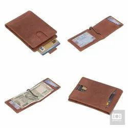 RFID Leather Bifold Wallets for Men - Slim Front Pocket Secure Credit Card Holder with ID Window