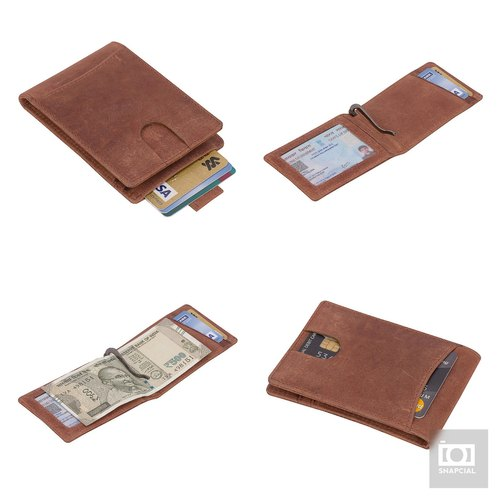 4298490f7050 RFID Leather Bifold Wallets for Men - Slim Front Pocket Secure Credit Card  Holder with ID