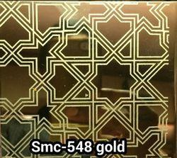 Decorative Stainless Steel Etching Sheets Gold Color