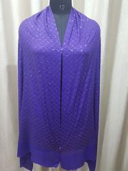 Merino Wool Heavy Swarovski Work Shawl