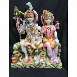 Shiv Parvati Family Statue