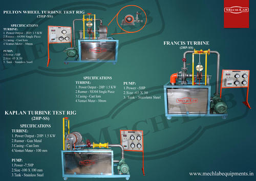 Hydraulic Machines Laboratory Equipment - Hydraulic Equipment