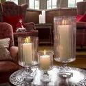 Set of 3 Glass Candle Stand