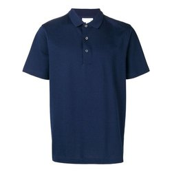 Cotton Plain Men Casual Wear Collar T Shirt