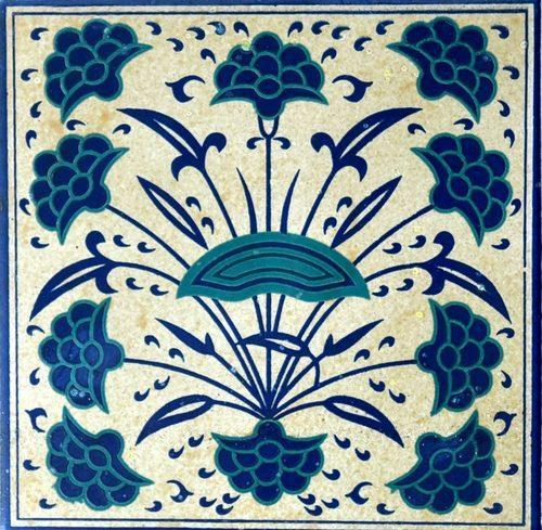 Hand Printed Ceramic Wall Tiles, Size: Medium