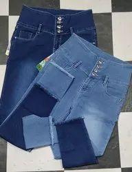 Button Regular Girls Jeans