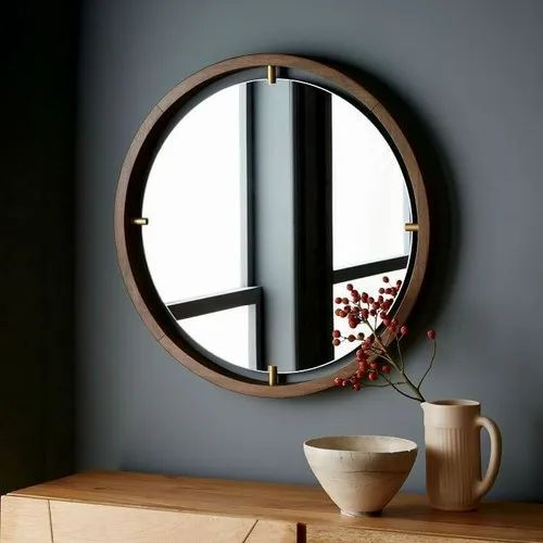 Glass Designer Round Plain Wall Mirror Thickness 4 8 Mm Rs 2000 Piece Id 22181629573