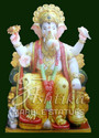 Marble Lalbaugcha Raja Statue