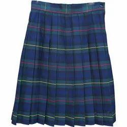 Girls Printed School Skirt
