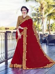 Bemberg Georgette Plain Saree