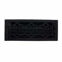Flower Iron Wall Register with Louver - 4inch x 12inch (5-1/2inch x 13-1/2inch Overall)